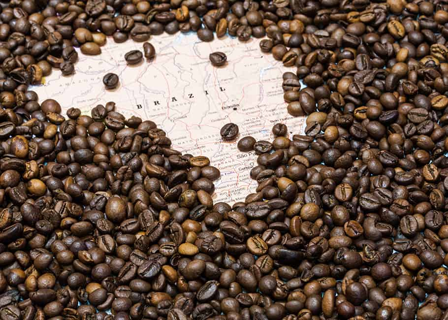Brazil produces the most arabica coffee in the world