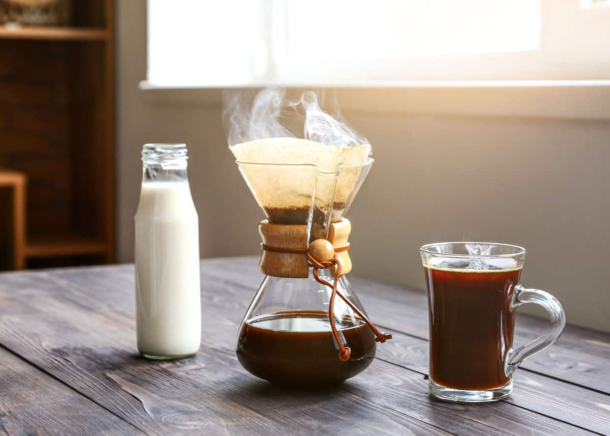 how to clean a pour over coffee maker