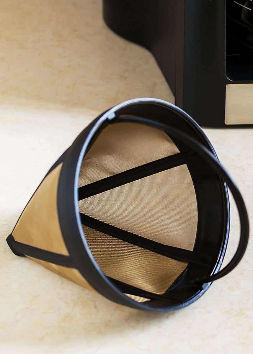 how to clean permanent coffee filters